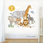 Внешний вид - Safari Animal Nursery Decal Wall Art Baby Girl Sticker Kids Jungle Mural Room