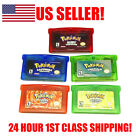 Pokemon Emerald Ruby Sapphire Fire Red Leaf Green GBA Game US REPRODUCTION