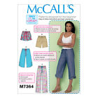 McCall's 7364 Easy Sewing Pattern to MAKE Trousers Shorts Crops Learn to Sew
