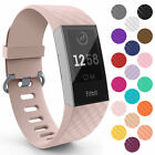 For Fitbit Charge 3 Wrist Straps Wristband Best Replacement Accessory Watch Band <br/> In stock ¦ Fast Free Delivery ¦ All Sizes & 18 Colours