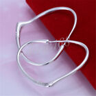 Daily Special 70%OFF 925 Sterling Silver 37mm Large open Heart Hoop Earring H103