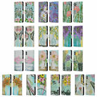 OFFICIAL AMANDA HILBURN SPRING FLORAL LEATHER BOOK CASE FOR APPLE iPHONE PHONES