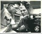 1987 Press Photo Terry Groth and 4-H club instructor Roger Tormoehlen, Wisconsin