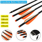 Crossbow Bolt Roll Fiberglass Arrows for Archery Target Hunting Outdoor Shooting