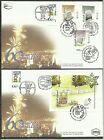 ISRAEL - NEW ZEALEND 2 FDC 2008 COVERS SPECIAL SHEET AND STAMPS FOR EXHIBITION