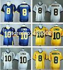 #8 Aaron Rodgers California College Football Stiched #10 Marshawn Lynch Jersey