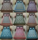 Floral Printed Fitted Sheet Full Queen King Cotton Bed Sheet Cover 3 Pics image
