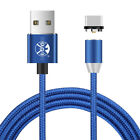US 1~3M USB Type C 360° Round Magnetic Adsorption Fast Braid LED Charging Cable