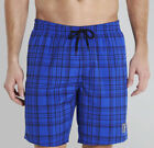 Speedo Check Mens Swim Shorts Blue Stylish Checked Swimming Short Beach Summer