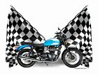 T-Shirt Checkered Flag 2015 Triumph Bonneville Spirit (Checkered 0460) $19.99 USD on eBay