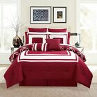Внешний вид - 12 Piece Bernard Burgundy Comforter Set with Sheets