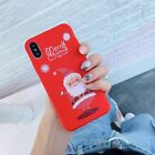 Cute Christmas Reindeer Santa Red Phone Cover Case For iPhone Xs Xr Max 8 7 Plus