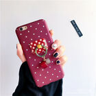 Slim Fit Cute Retro Heart Chain Ring Coarse Protective Case Covers For iPhone