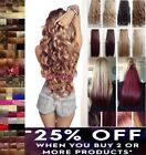 Hair Extensions Half Head Long Clip In Curly Straight Ash Blonde Brown Burgundy