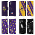 NFL 2017/18 MINNESOTA VIKINGS LEATHER BOOK WALLET CASE FOR APPLE iPHONE PHONES