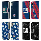 NFL 2017/18 NEW YORK GIANTS LEATHER BOOK WALLET CASE FOR APPLE iPHONE PHONES