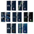 NFL SEATTLE SEAHAWKS LOGO LEATHER BOOK WALLET CASE COVER FOR APPLE iPHONE PHONES