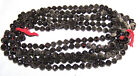 1920's  VINTAGE CZECH BLACK MOUTH BLOWING GLASS BEADS CHAINS 12 strands - 10mm