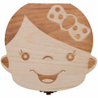 Wooden Kids Baby Tooth Box Milk Teeth Umbilical Cord Storage Box Memorial Case