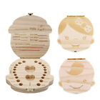 Внешний вид - Wooden Kids Baby Tooth Box Milk Teeth Umbilical Cord Storage Box Memorial Case