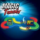 MAGIC TRACK 165 & 220 GLOW IN THE DARK LED LIGHT UP RACE CAR BEND FLEX RACETRACK
