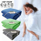 'Electric Heated Blanket Throw Over Under Bed Warm Mattress Fabric Safe Washable