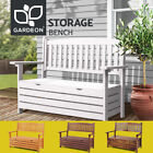 Gardeon Outdoor Storage Bench Box 2 Seat Wooden Patio Furniture Lounge Garden
