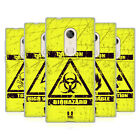 HEAD CASE DESIGNS HAZARD SYMBOLS SOFT GEL CASE FOR ALCATEL PHONES