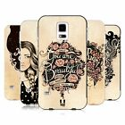 HEAD CASE DESIGNS INTROSPECTION BLACK BUMPER SLIDER CASE FOR SAMSUNG PHONES