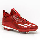 New Adidas Energy Boost Icon 2.0 Metal Mens Baseball Cleats - Red
