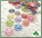 """150 pc x 3/4"""" Mix 10-Color Padded Gingham Cotton Sunflower/Daisy Appliques ST150"""