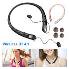 Wireless Bluetooth Headset Neckband Retractable Stereo Headphone Earphone Earbud