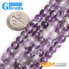 Natural Round Gemstone Dream Lace Amethyst Beads For Jewelry Making Strand 15""