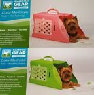 Guardian Gear Color-Me Crate Pet Carrier In 2 Color Choices ~ Pink OR Green