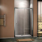 6/8mm Luxury Sliding Shower Door Enclosure Chrome Cubicle EasyClean Glass Screen