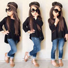 Toddler Baby Kids Girls Outfit Clothes Long Sleeve T-shirt Tops+Jeans Pants T9