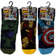 3 x Marvel ~ Mens Socks ~ UK Size 6-11 ~ Iron Man Hulk Captain America ~ Gift