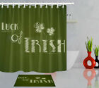 72in Long Bathroom Waterproof Fabric Shower Curtain Liner Luck Of Irish Clover