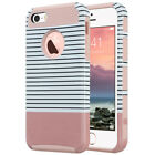 for iPhone 5 6 6S 7 8 Plus Case Hybrid Hard Heavy Duty Shockproof Rubber Cover