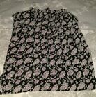 spooy long skirt with flowers open slids on both sides