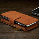 All in One Zip shock absorber sports Wallet Leather Case Apple Phone Xs 8 7 6 5s