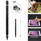 For iPad 2/3/4/mini/Air/Pro Screen Touch Pen Stylus With USB Wire Charger JU