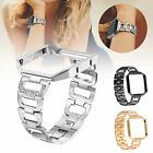 Lady Bling Rhinestone Stainless Watch Wrist Band Strap + Frame For Fitbit Blaze