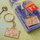 Gold Or Silver Luggage Travel Themed Keychains Bridal Shower Wedding Favors