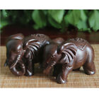 Wooden Elephant Collectable Figurines Ornaments For Home Office Decoration