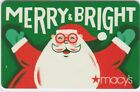 Macy's Christmas Holiday Gift Cards - Collectible / No Value - Take Your Pick!