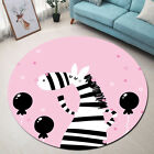 Living Room Young gentleman Bedroom Floor Carpet Kids Play Mat Cute Zebra Balloon Area Rug
