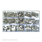 Assorted M4 / 4mm A2 Stainless Steel Socket Button Allen Key Machine Screws Nuts