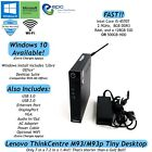 Lenovo ThinkCentre M93 M93p Tiny Desktop Core i5 SSD or HDD 8GB Win 10 Available