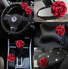 Car Parts Interior Accessories Ruck Steering Auto Seat Wheel Cover Red Flower